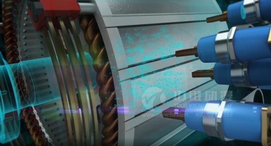 3d机械演示动画,比实物更有利于展示