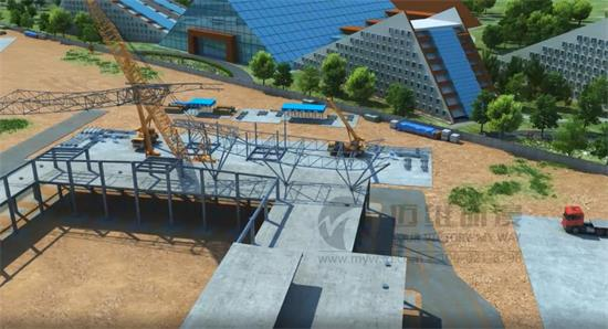 形象直观的解说,制作关于建筑的动画