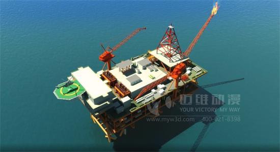 保护和开采石油,钻井施工动画的应用
